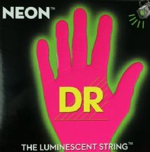 DR NEON NPB5-45 Neon Pink Luminescent/Fluorescent Bass Guitar Strings 45-125